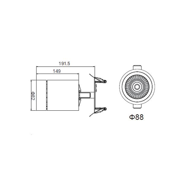 DOBAC JUVENIS RECESSED WHITE 30W 30°  KT6951-WH-27