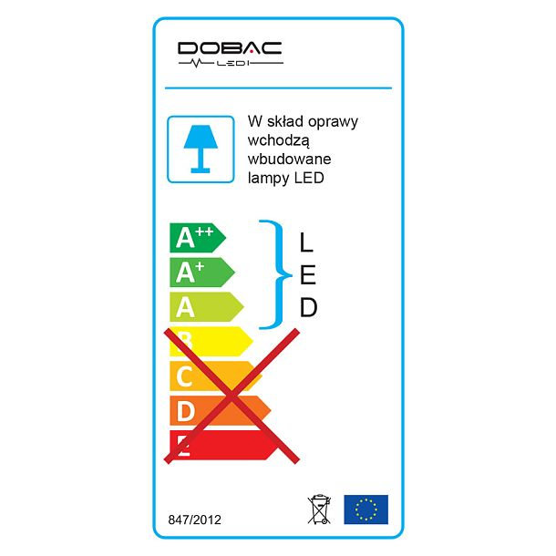 DOBAC JUVENIS RECESSED WHITE 20W 15°  KT6950-WH-15