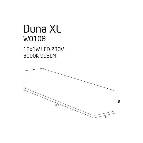 MAX-LIGHT Duna XL Kinkiet W0108